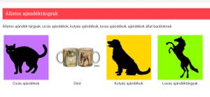 állatos ajándéktárgyak