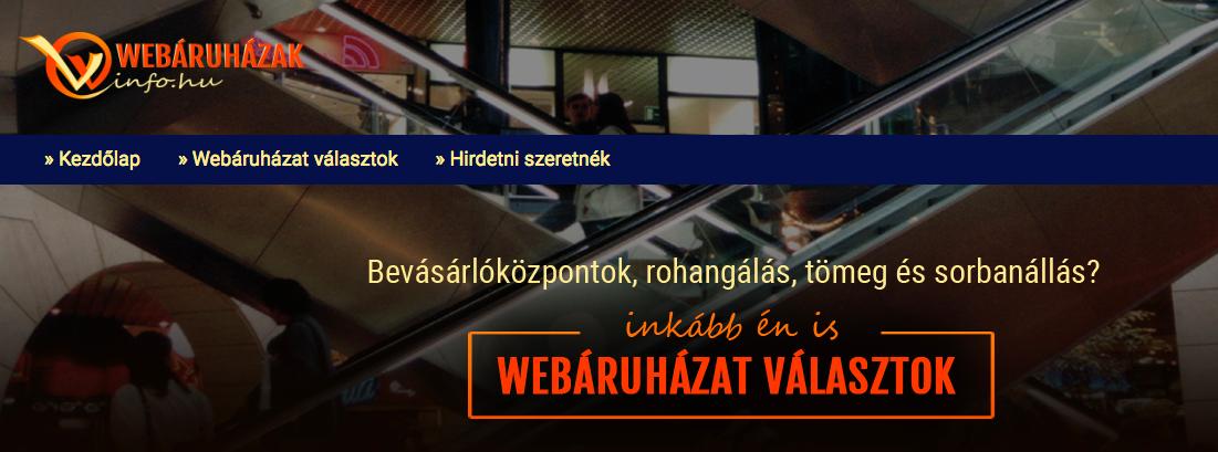 webáruházak info
